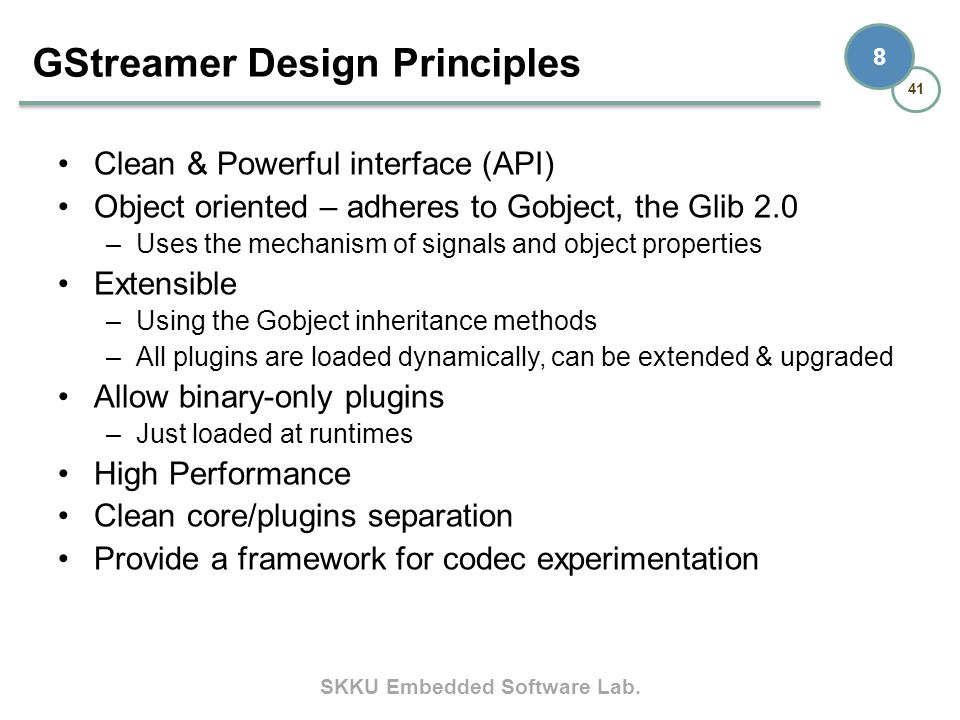 GStreamer Design Principles