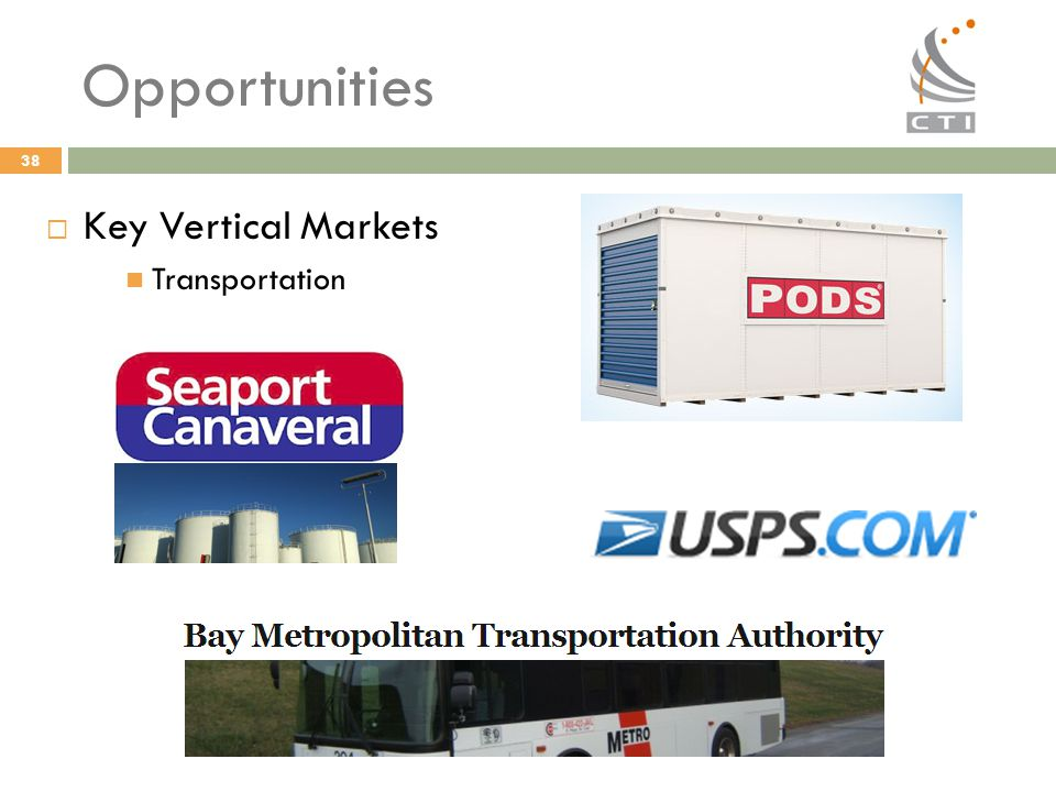 Opportunities Key Vertical Markets Transportation