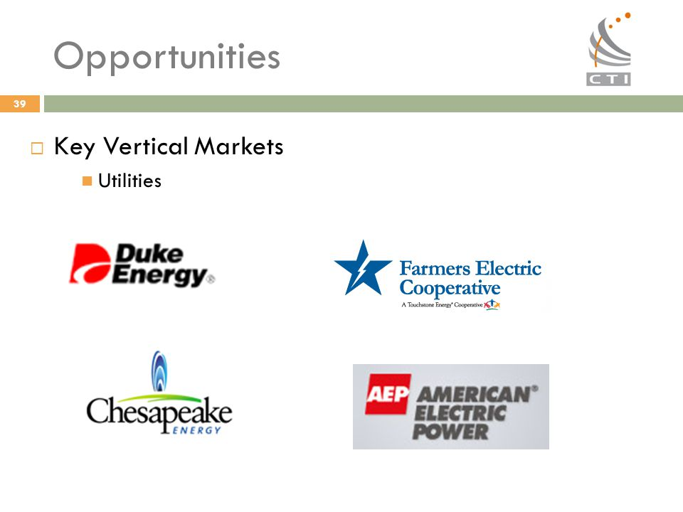 Opportunities Key Vertical Markets Utilities