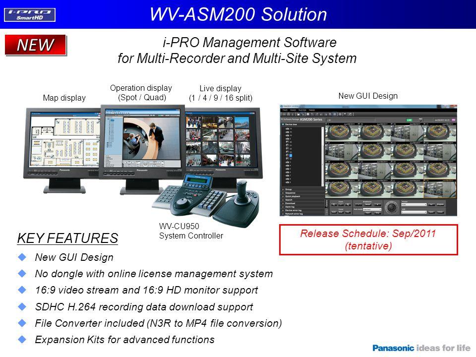 WV-ASM200 Solution NEW i-PRO Management Software