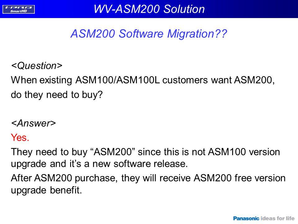 ASM200 Software Migration
