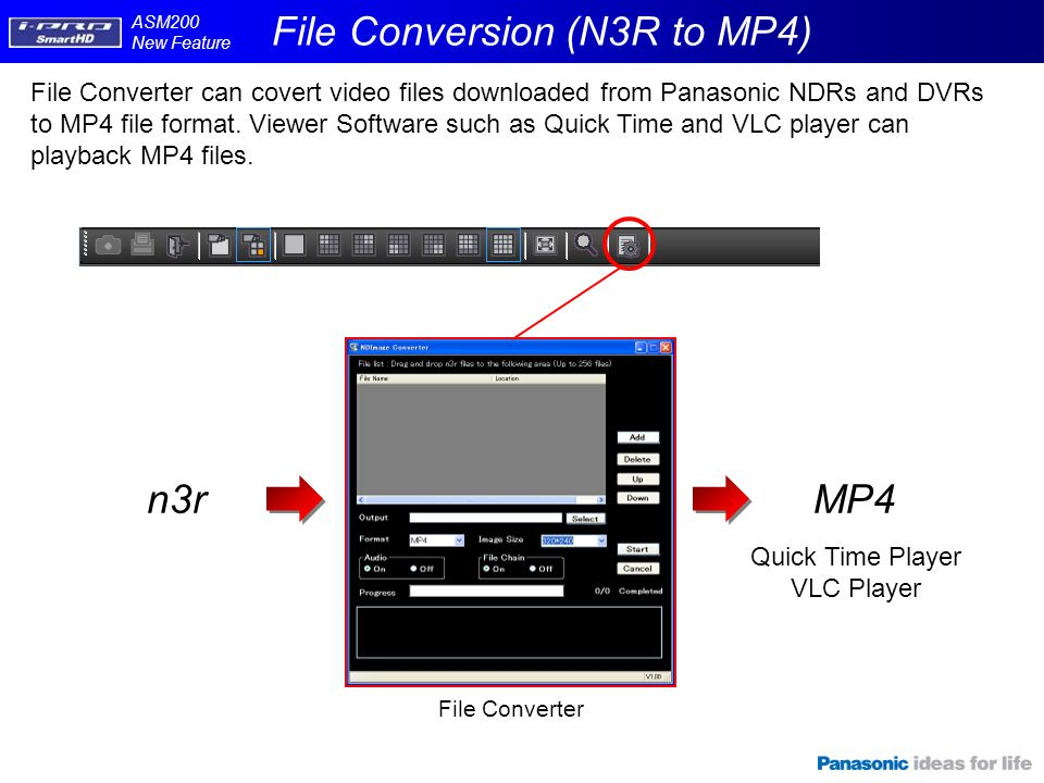 File Conversion (N3R to MP4)