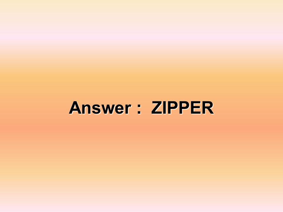 Answer : ZIPPER
