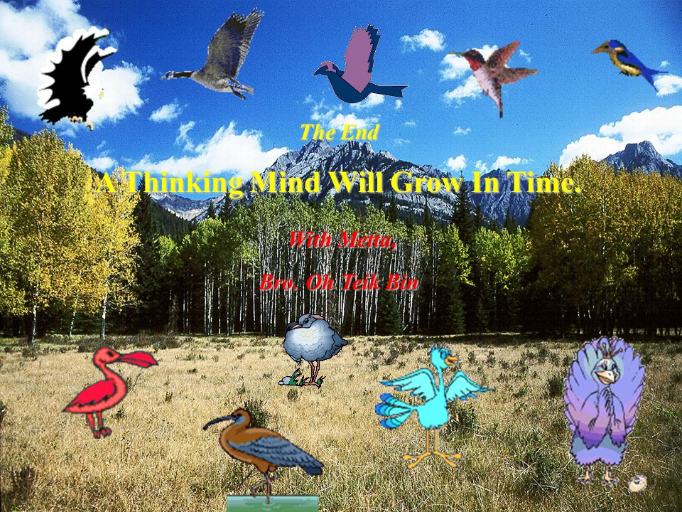 A Thinking Mind Will Grow In Time.
