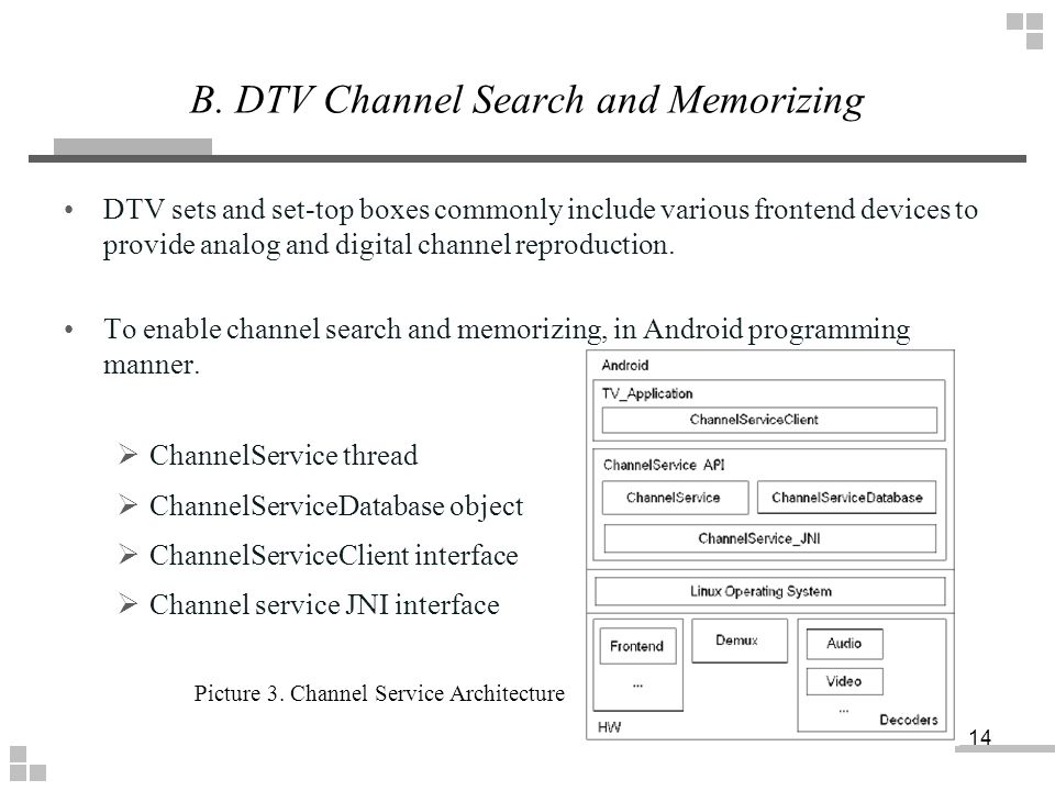 B. DTV Channel Search and Memorizing