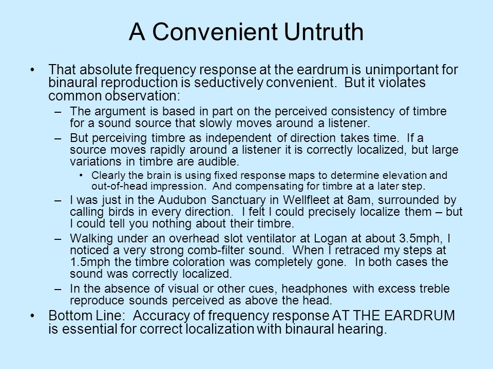 A Convenient Untruth