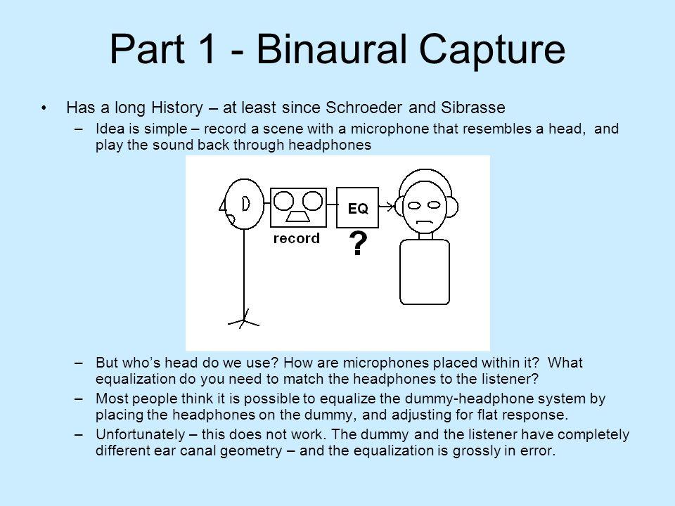 Part 1 - Binaural Capture