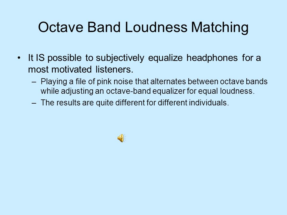 Octave Band Loudness Matching