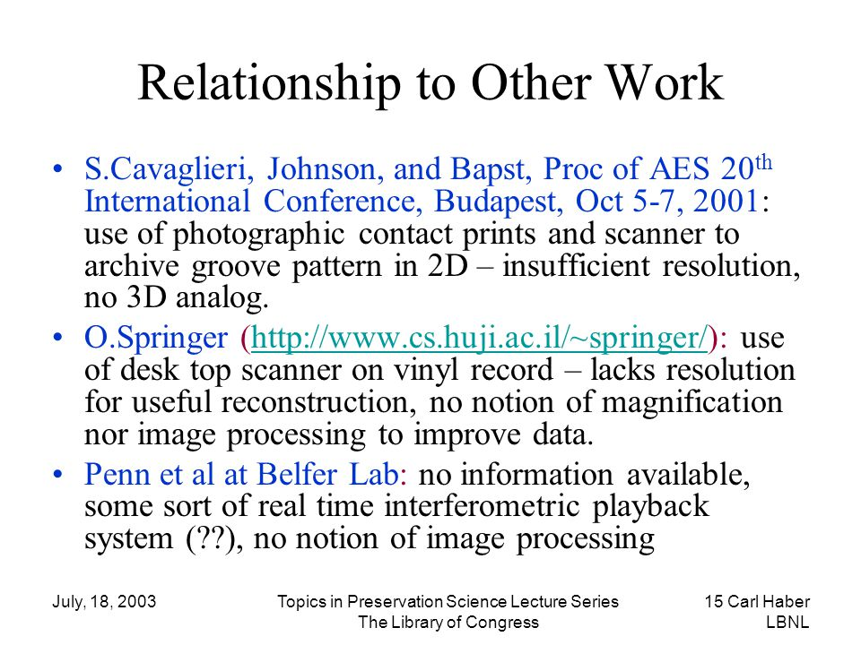 Relationship to Other Work