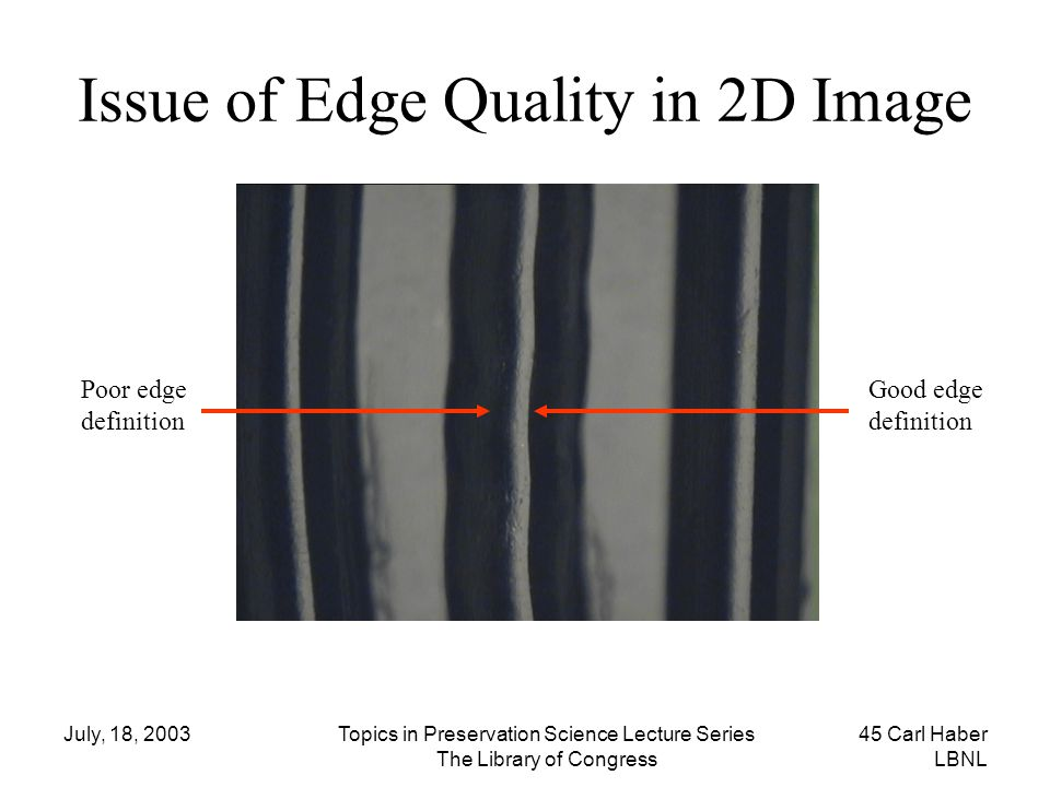 Issue of Edge Quality in 2D Image