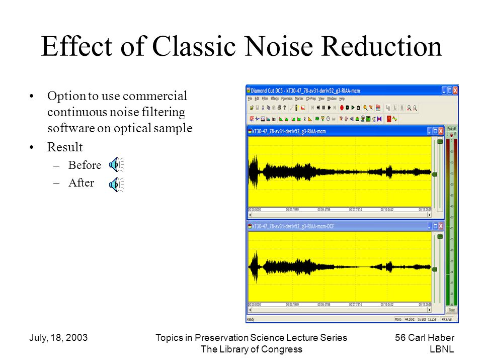 Effect of Classic Noise Reduction