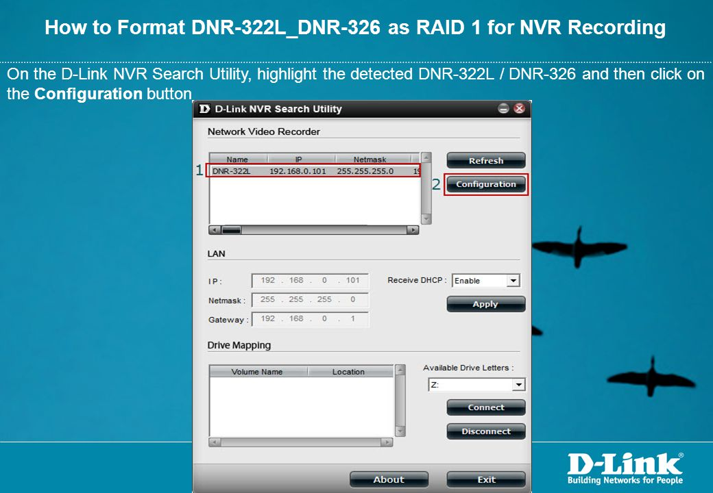 How to Format DNR-322L_DNR-326 as RAID 1 for NVR Recording