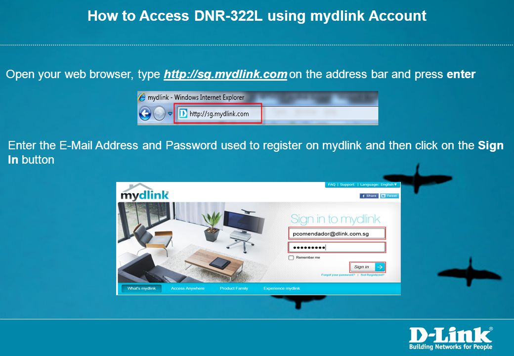 How to Access DNR-322L using mydlink Account