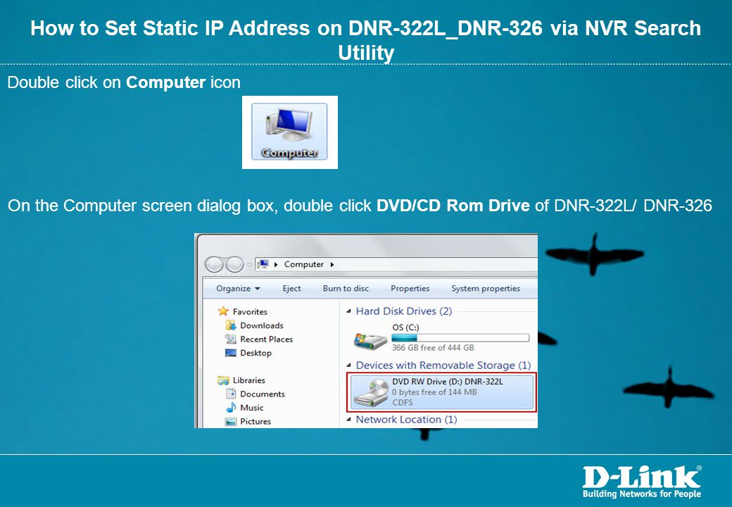 How to Set Static IP Address on DNR-322L_DNR-326 via NVR Search Utility
