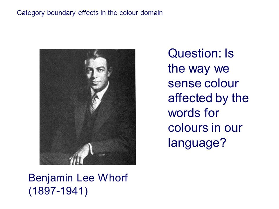 Category boundary effects in the colour domain
