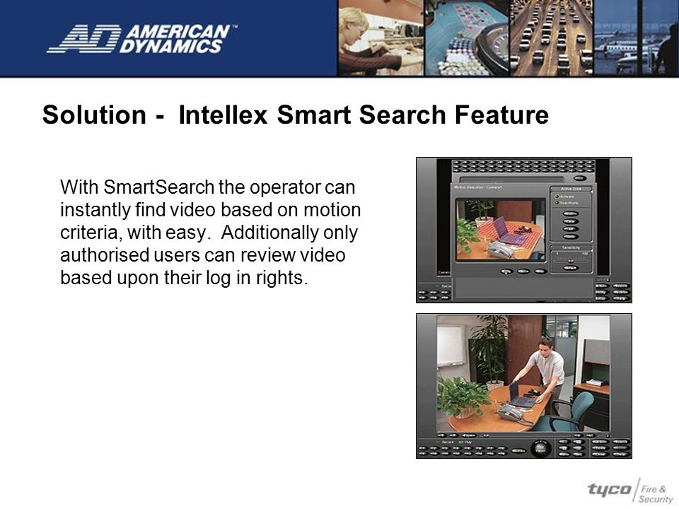 Solution - Intellex Smart Search Feature