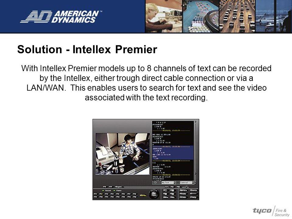 Solution - Intellex Premier