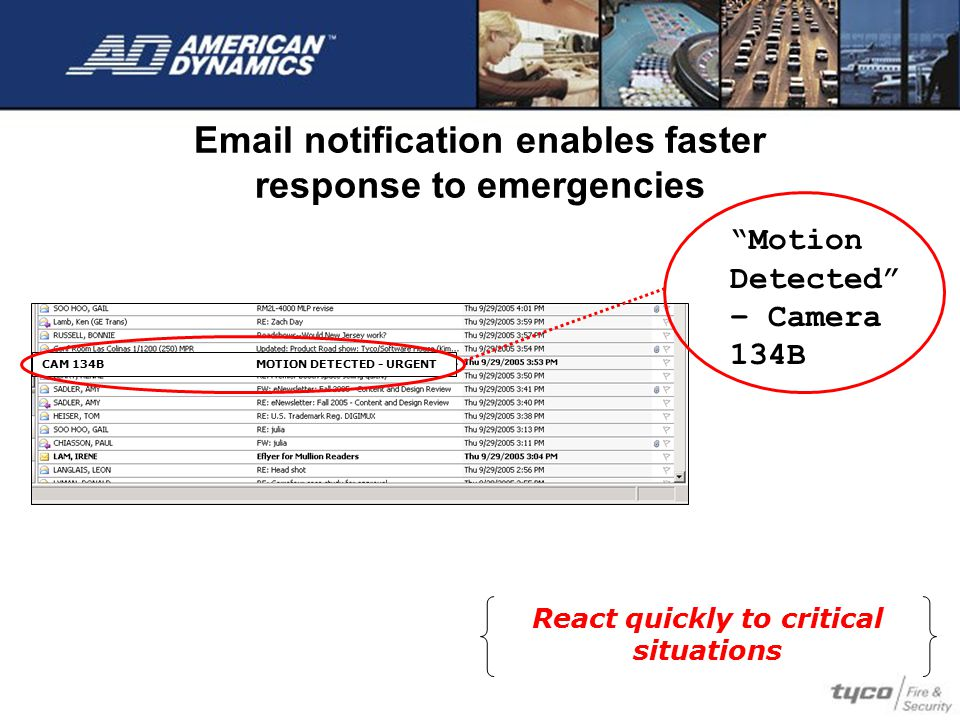 Email notification enables faster response to emergencies