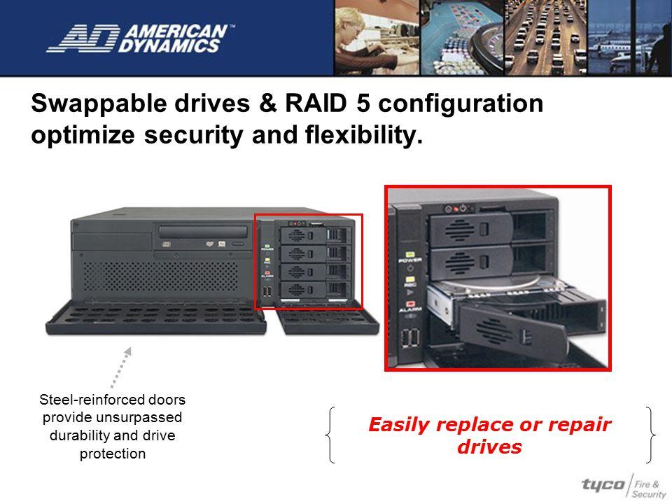 Easily replace or repair drives