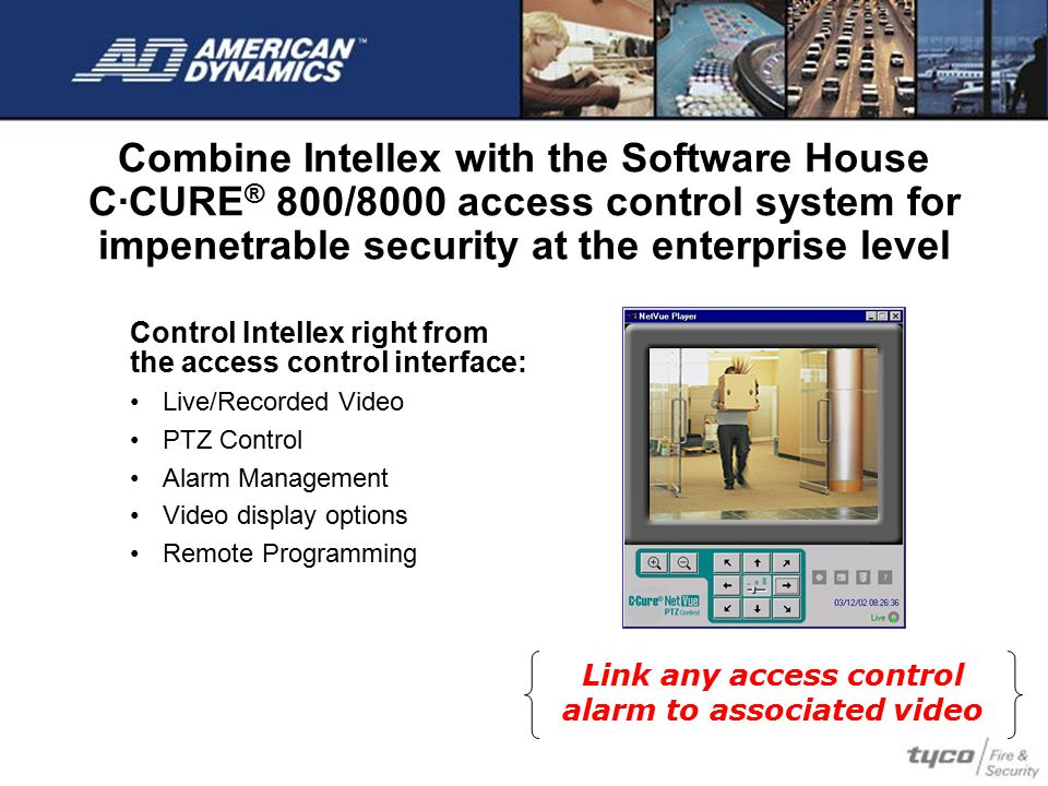 Link any access control alarm to associated video