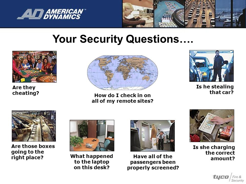 Your Security Questions….