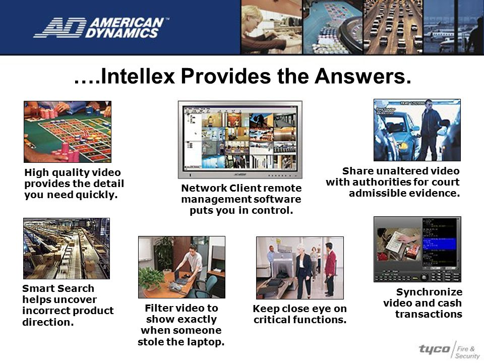 ….Intellex Provides the Answers.