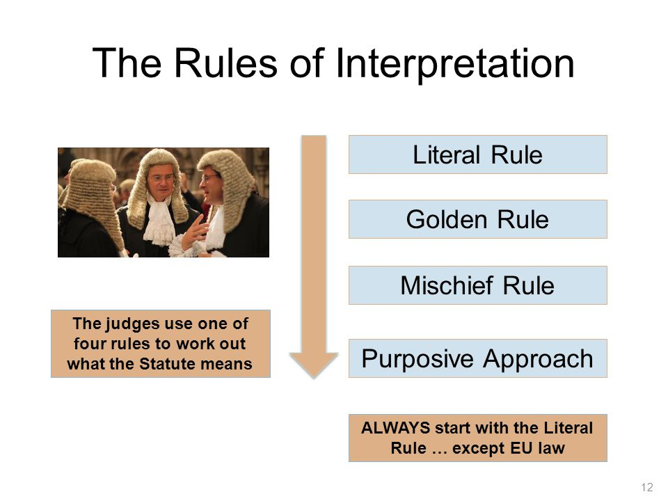 golden rule of interpretation 1golden rule of interpretatio n submitted by: 2 parunjeet singh chawla 77/09 uils, panjab university table of co.