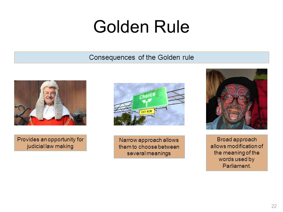 Golden Rule Consequences of the Golden rule