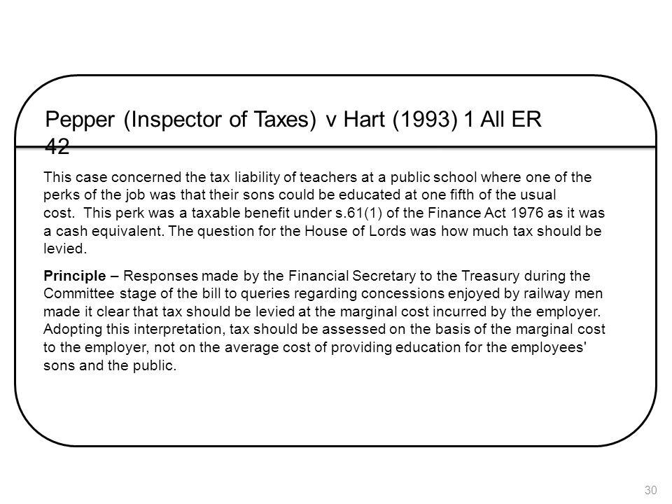 Pepper (Inspector of Taxes) v Hart (1993) 1 All ER 42