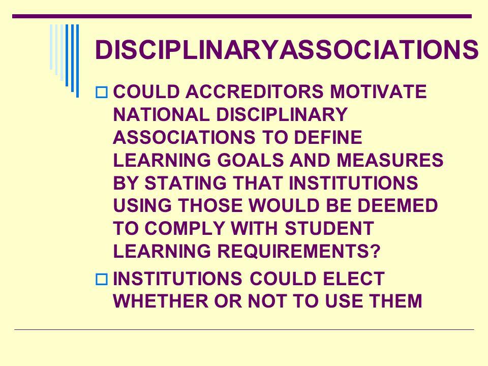 DISCIPLINARYASSOCIATIONS