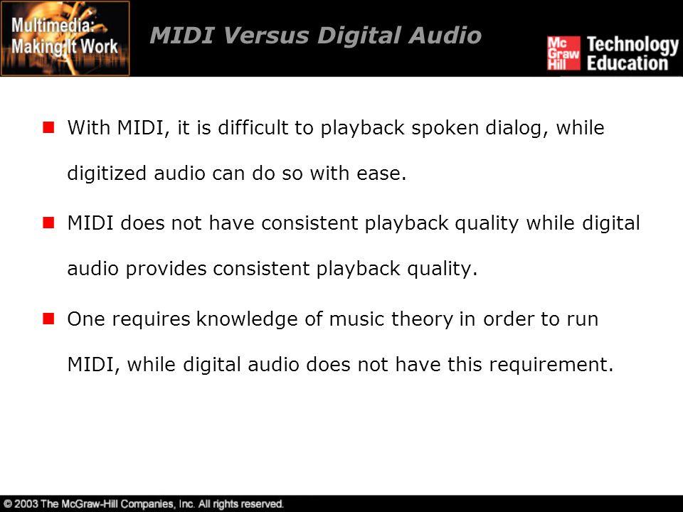 MIDI Versus Digital Audio