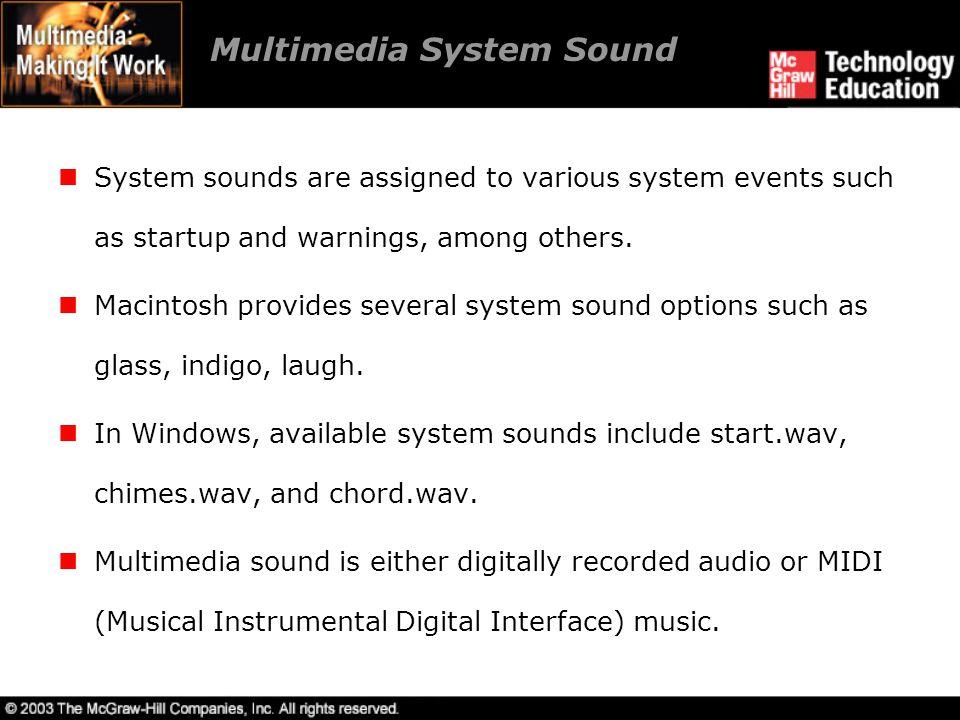 Multimedia System Sound
