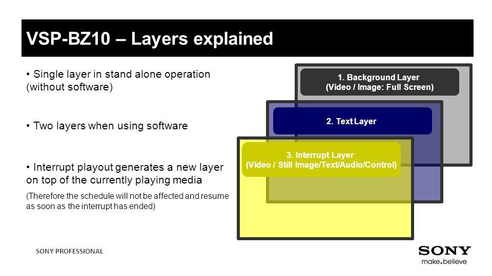 VSP-BZ10 – Layers explained