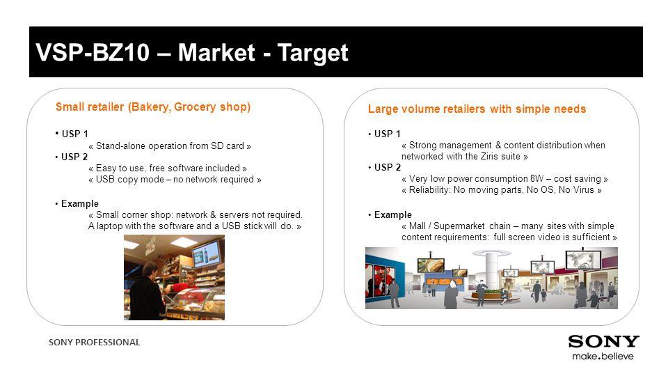VSP-BZ10 – Market - Target