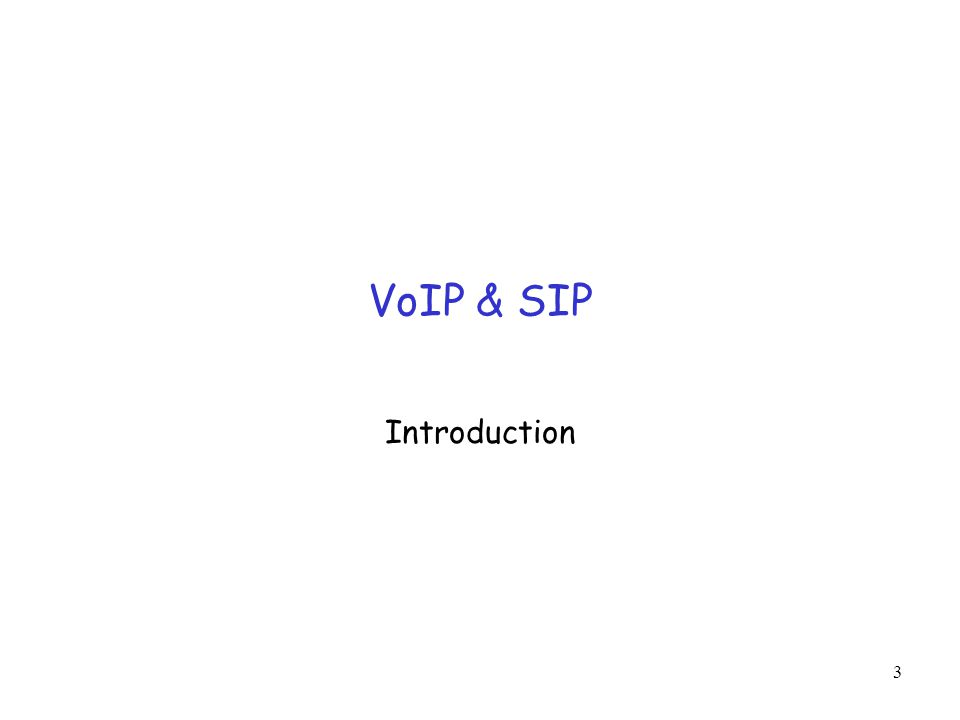 VoIP & SIP Introduction