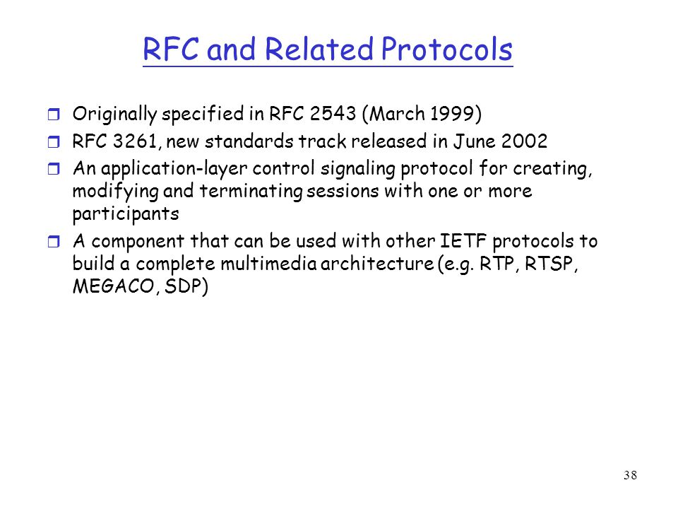RFC and Related Protocols