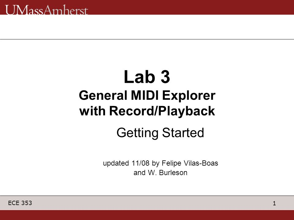 Lab 3 General MIDI Explorer with Record/Playback
