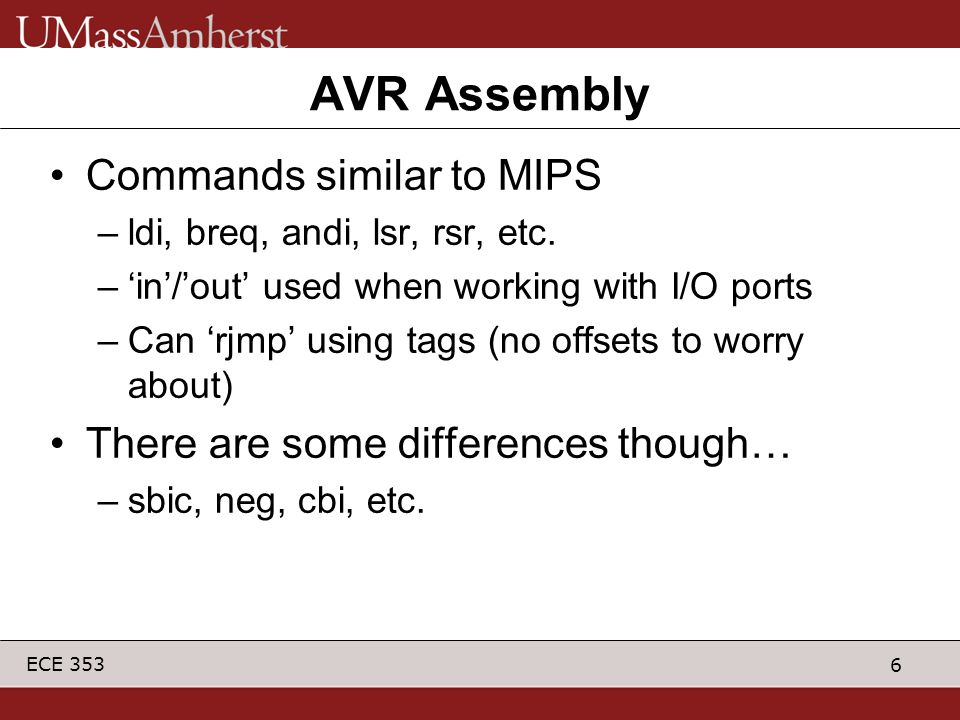 AVR Assembly Commands similar to MIPS