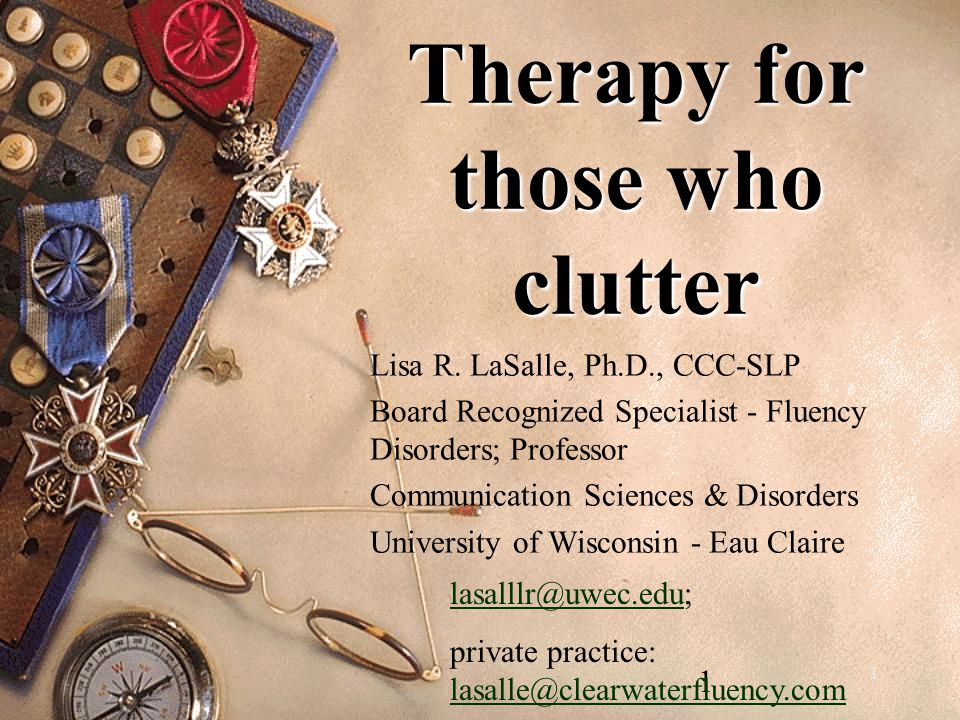 Therapy for those who clutter