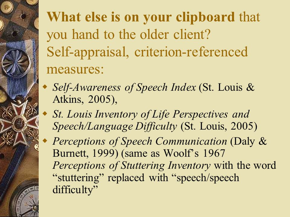 What else is on your clipboard that you hand to the older client