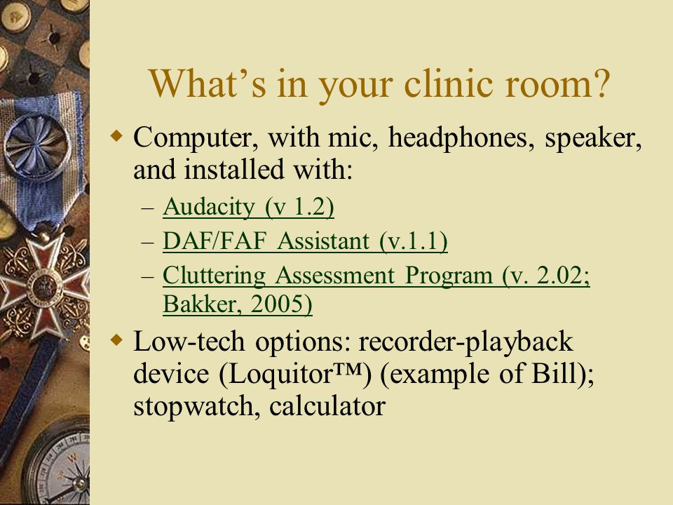 What's in your clinic room