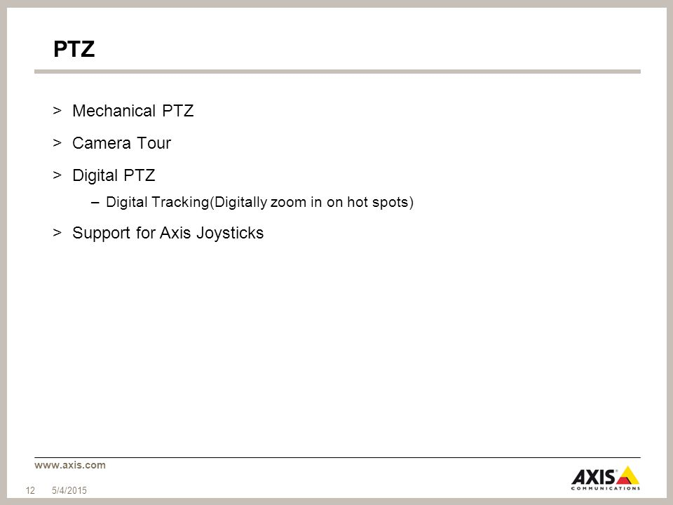 PTZ Mechanical PTZ Camera Tour Digital PTZ Support for Axis Joysticks