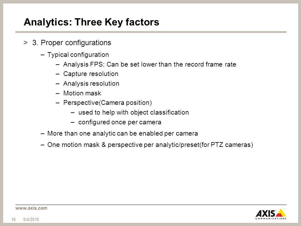 Analytics: Three Key factors