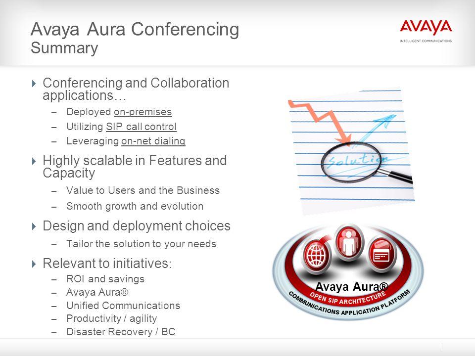 Avaya Aura Conferencing Summary