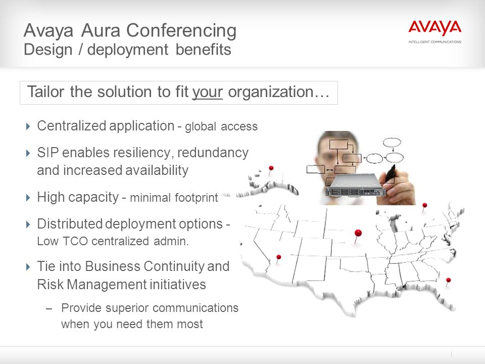 Avaya Aura Conferencing Design / deployment benefits