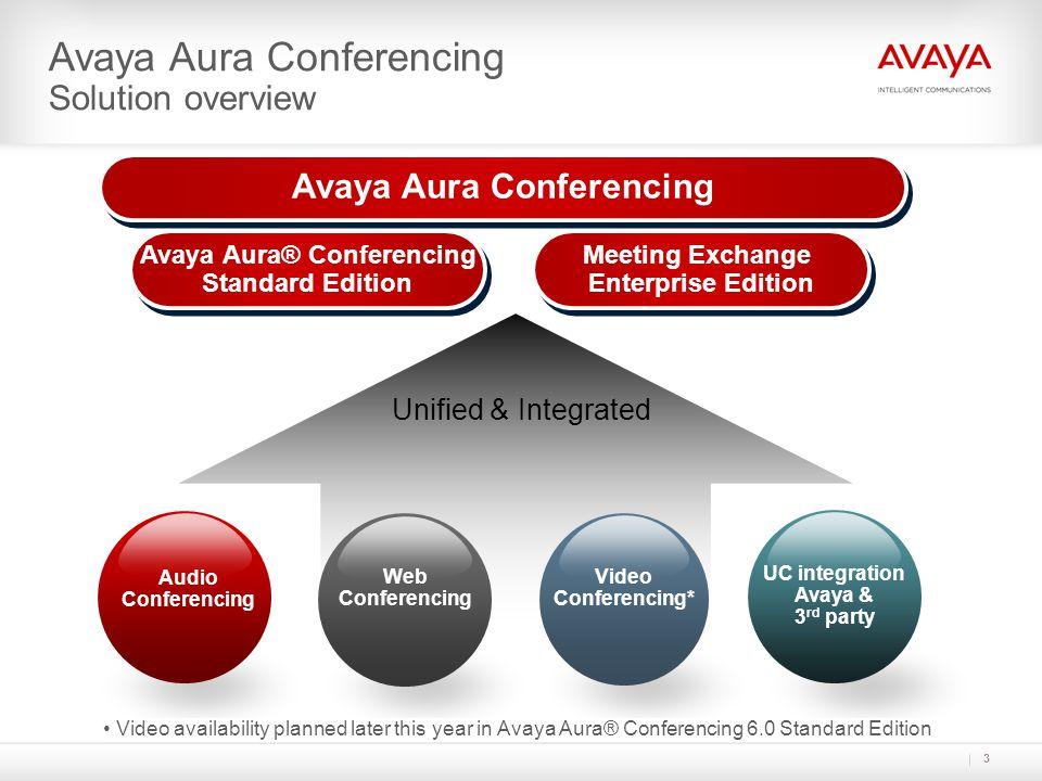 Avaya Aura Conferencing Avaya Aura® Conferencing