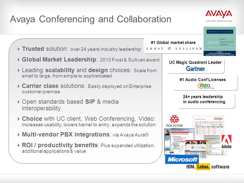 Avaya Conferencing and Collaboration