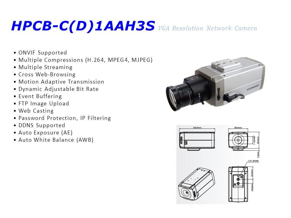 HPCB-C(D)1AAH3S VGA Resolution Network Camera
