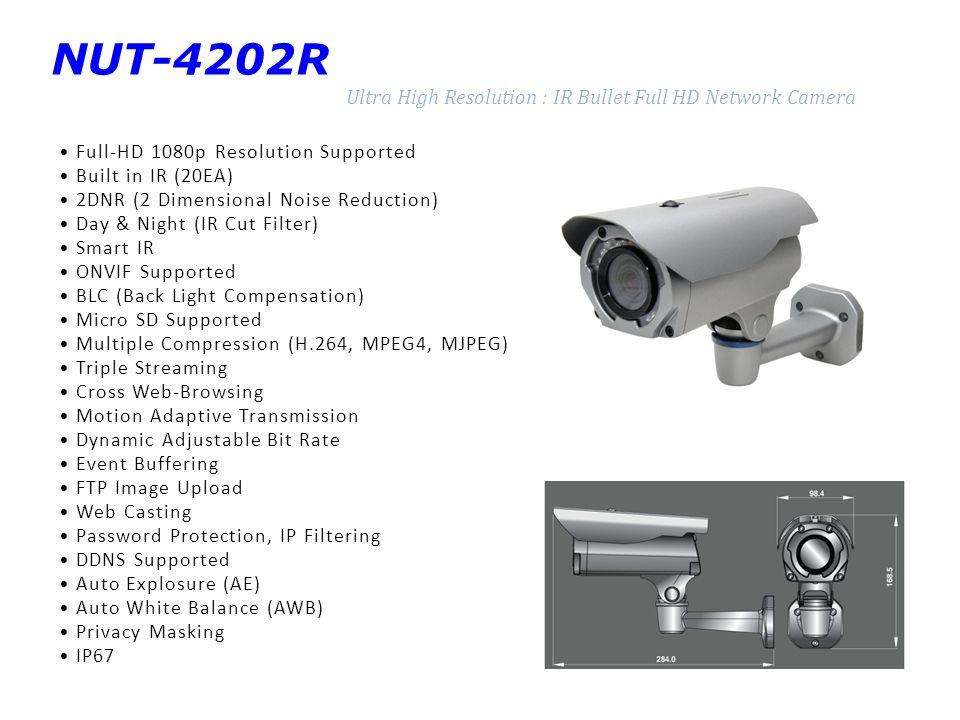 NUT-4202R Ultra High Resolution : IR Bullet Full HD Network Camera