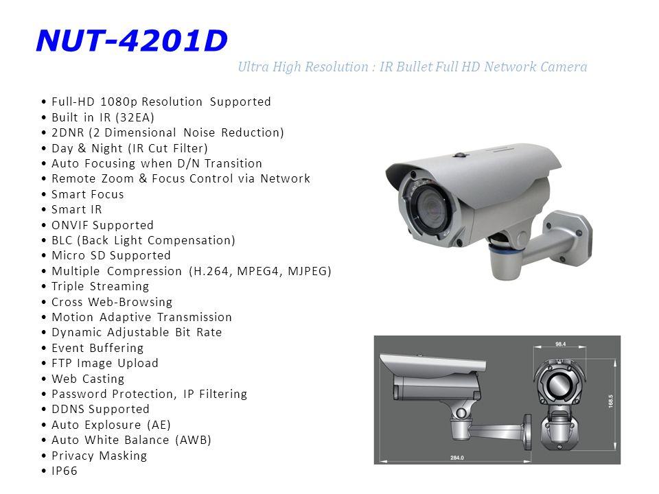 NUT-4201D Ultra High Resolution : IR Bullet Full HD Network Camera